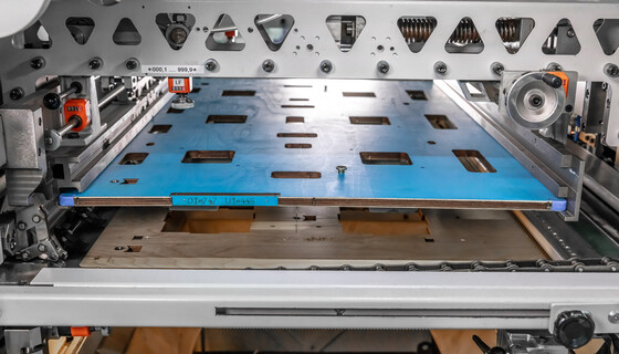 The stipping tool of the calibration tool package for corrugated board for quick calibration of the tools in the die-cutting machine.  | © Marbach Group
