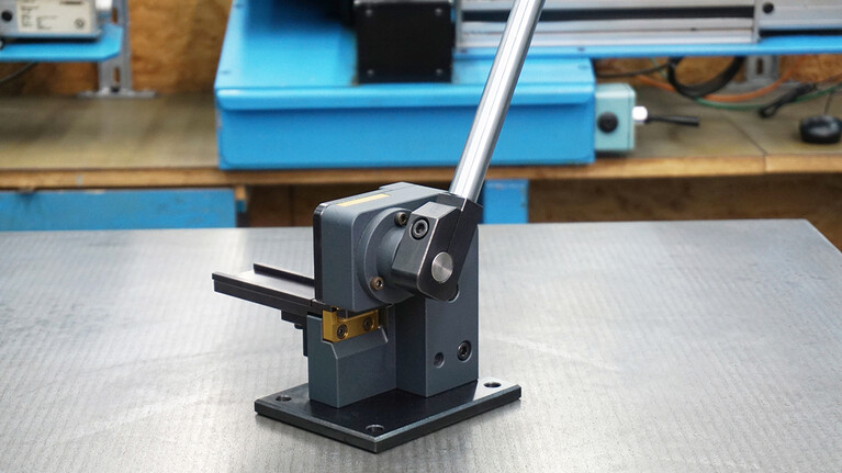 mcut|round hand tool for cutting defined radii at the ends of flat and rotary creasing rules from Marbach Die Supplies. | © Marbach Group