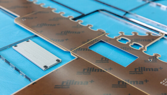 rillma+ pertinax counter plate with milled channels on cutting-die with marbabraille | © Marbach Group