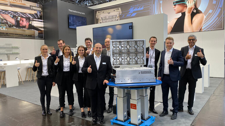 Marbach Stand Team at K 2019.