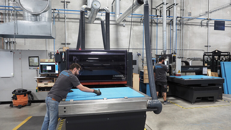 Laser department in Michigan City | Marbach America | © Marbach Group