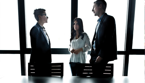 people discussing in a meeting room