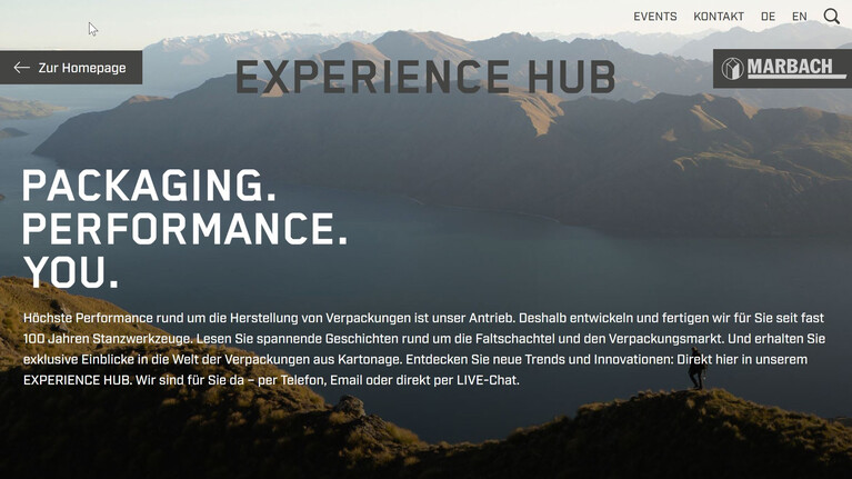 New online platform for the packaging industry: Marbach Experience Hub | © Marbach Group